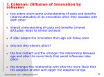 j coleman diffusion of innovation by cohesion