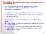 ron burt structural holes versus network closure as social capital 4