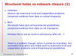 structural holes vs network closure 2
