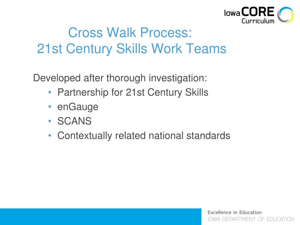 Cross Walk Process: