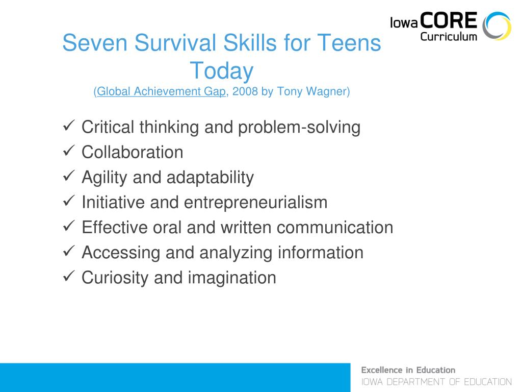 Seven Survival Skills for Teens Today