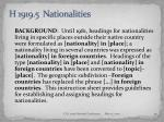 h 1919 5 nationalities