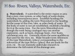 h 800 rivers valleys watersheds etc54