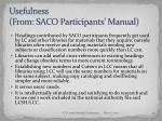 usefulness from saco participants manual10