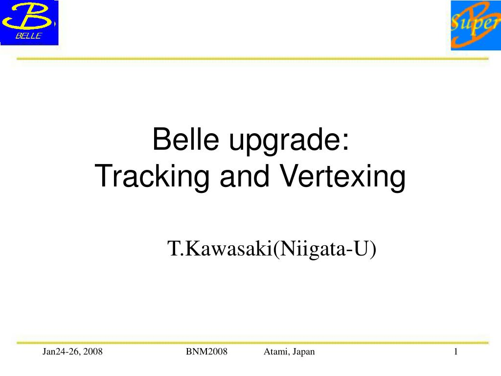belle upgrade tracking and vertexing l.