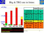 bkg trg rate in future
