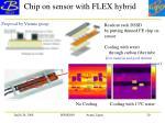 chip on sensor with flex hybrid