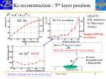 ks reconstruction 5 th layer position