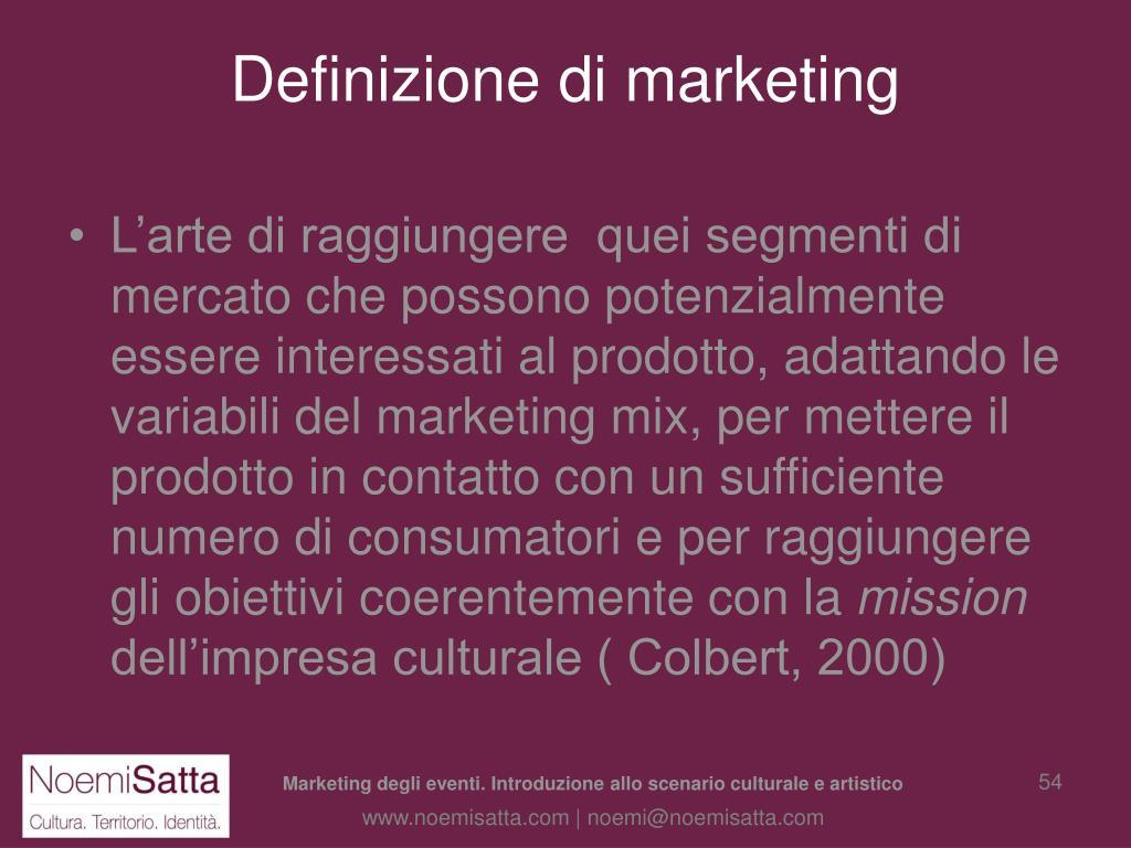 Definizione di marketing