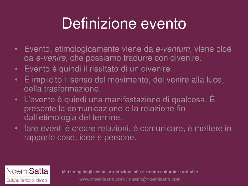 Definizione evento
