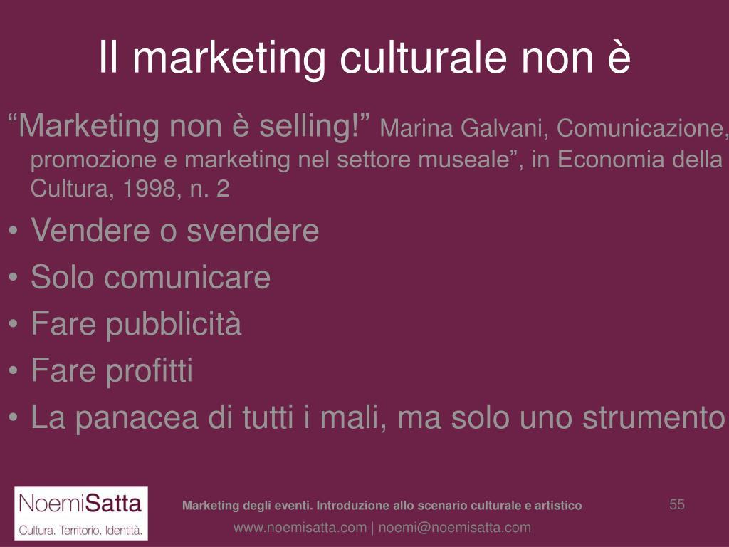 Il marketing culturale non è
