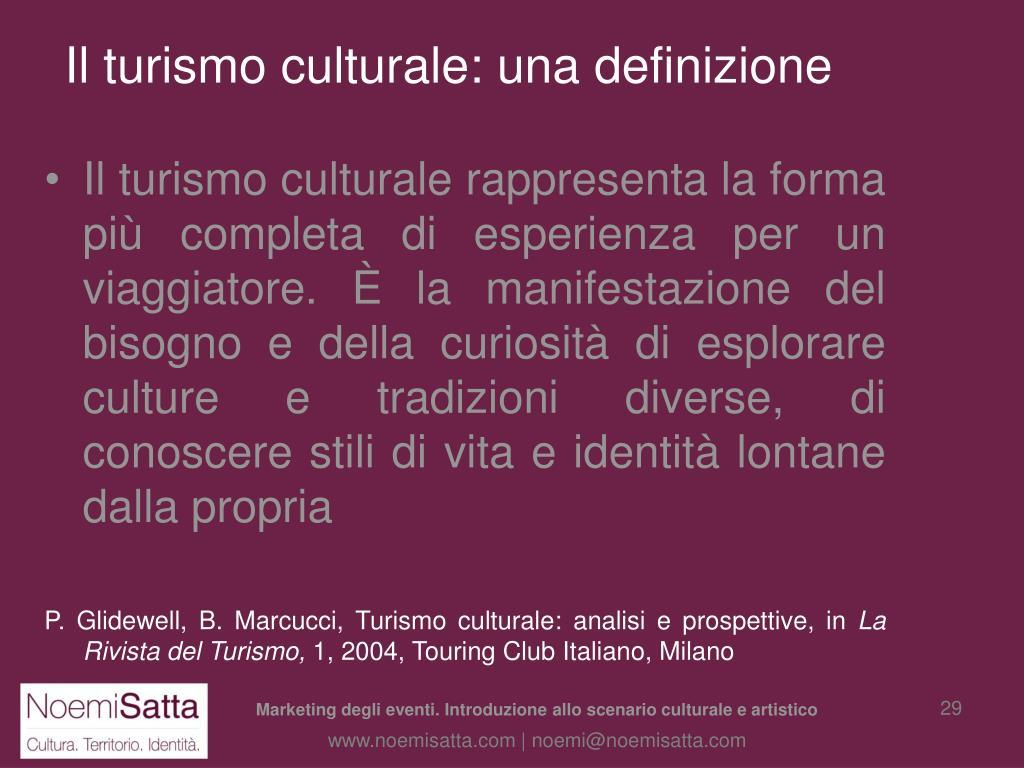 Il turismo culturale: una definizione