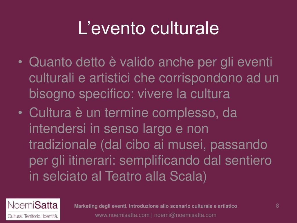 L'evento culturale
