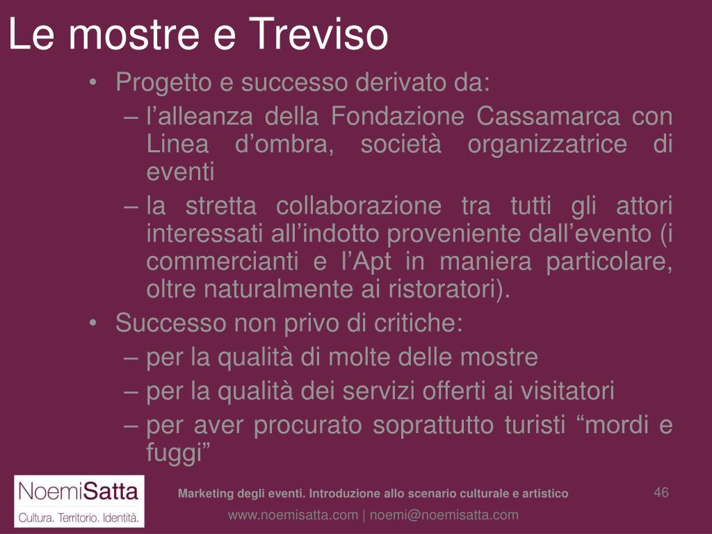 Le mostre e Treviso