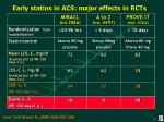 early statins in acs major effects in rcts