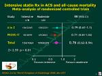 intensive statin rx in acs and all cause mortality meta analysis of randomized controlled trials