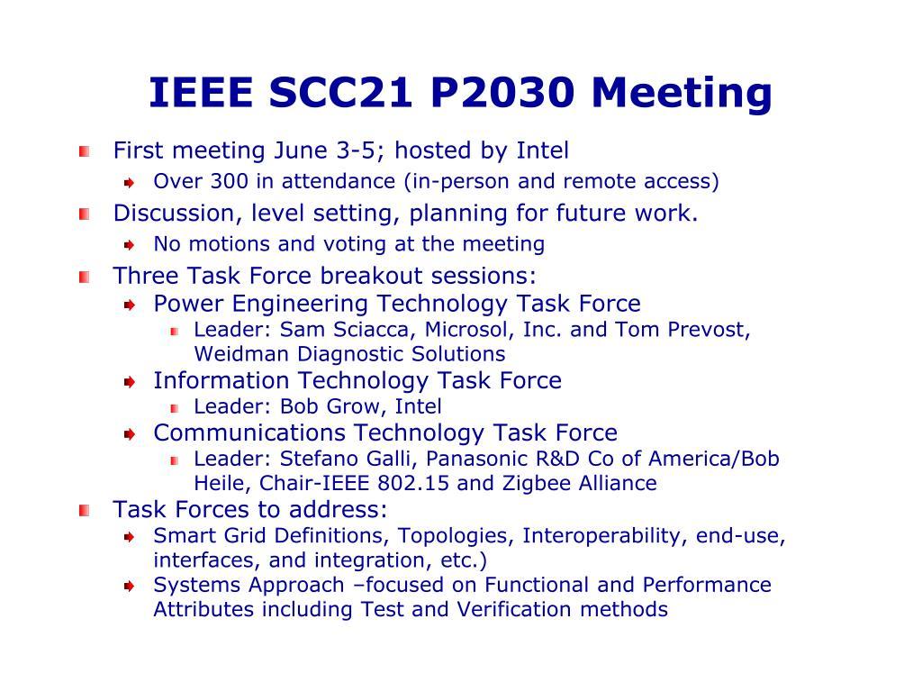IEEE SCC21 P2030 Meeting