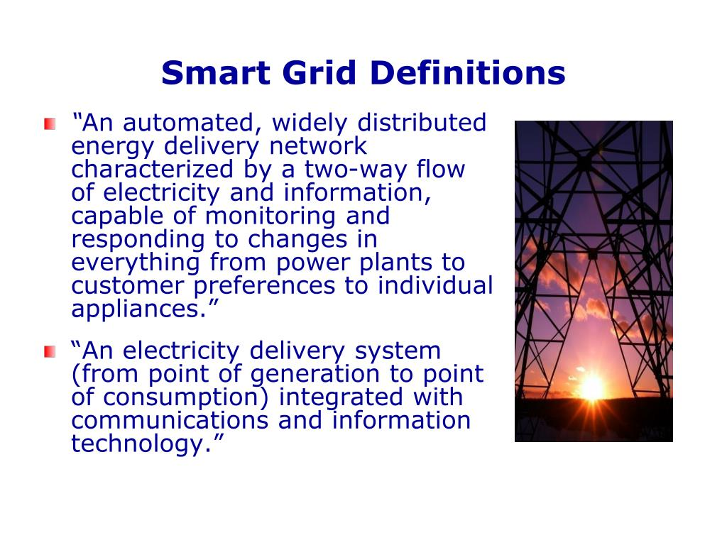 Smart Grid Definitions