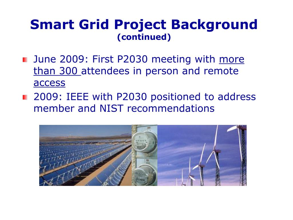 Smart Grid Project Background