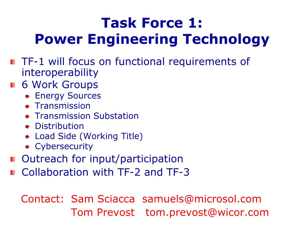 Task Force 1: