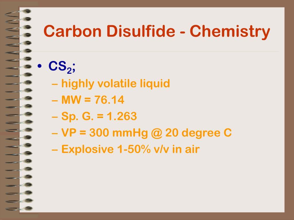 Carbon Disulfide - Chemistry