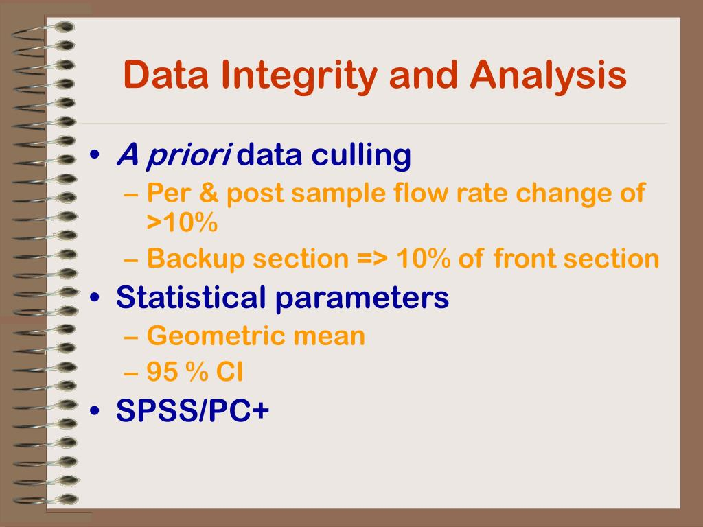 Data Integrity and Analysis