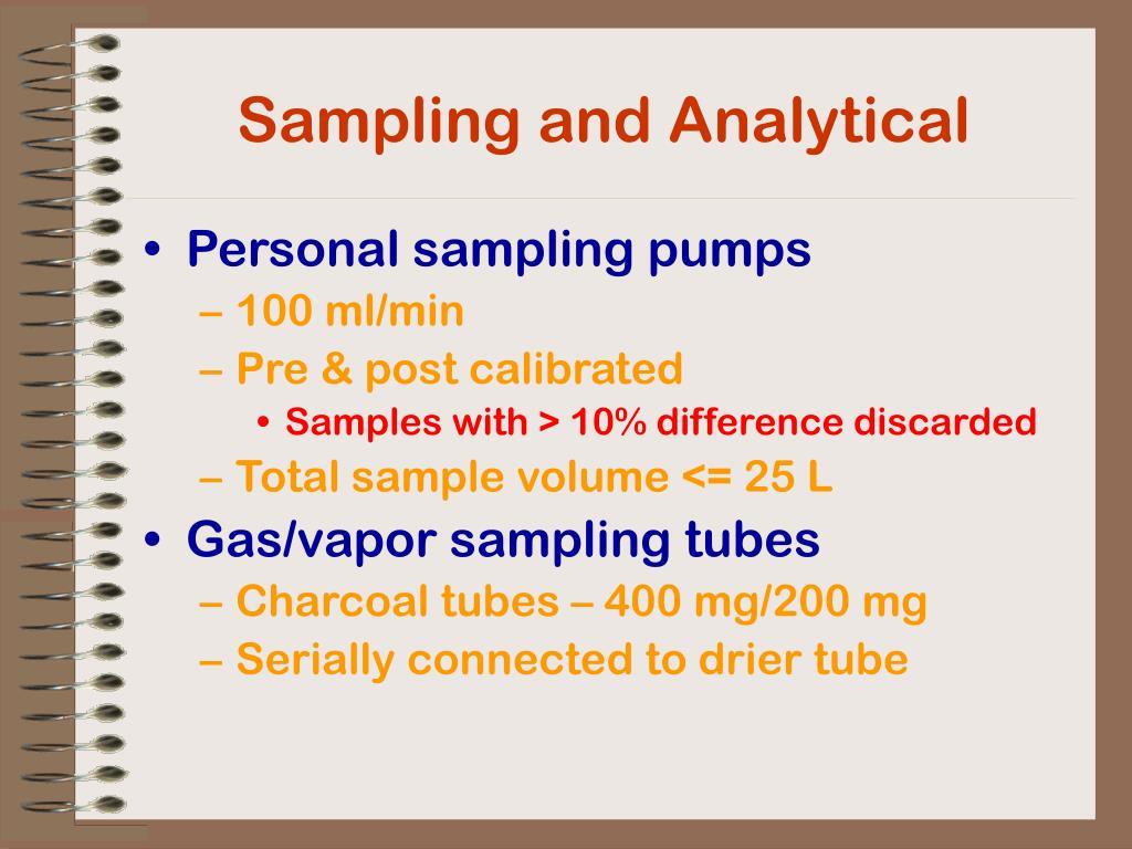 Sampling and Analytical