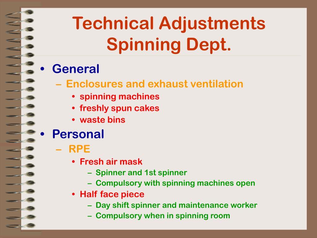 Technical Adjustments