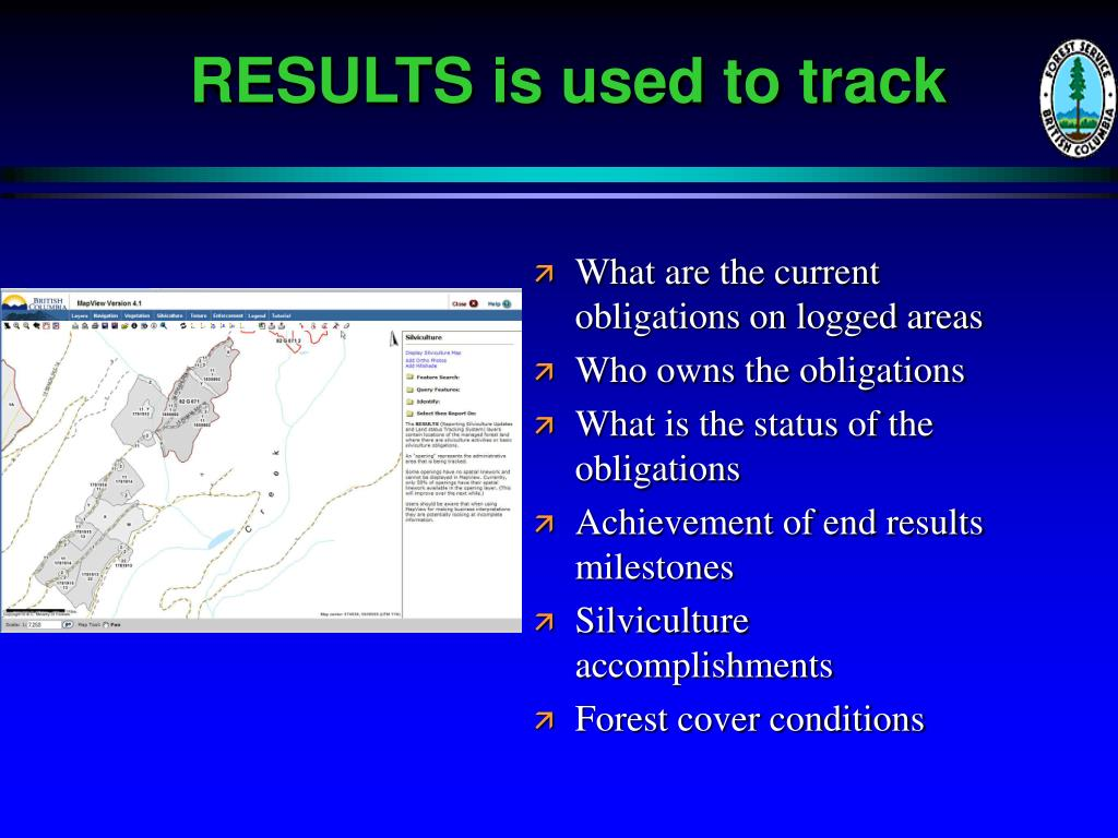 RESULTS is used to track