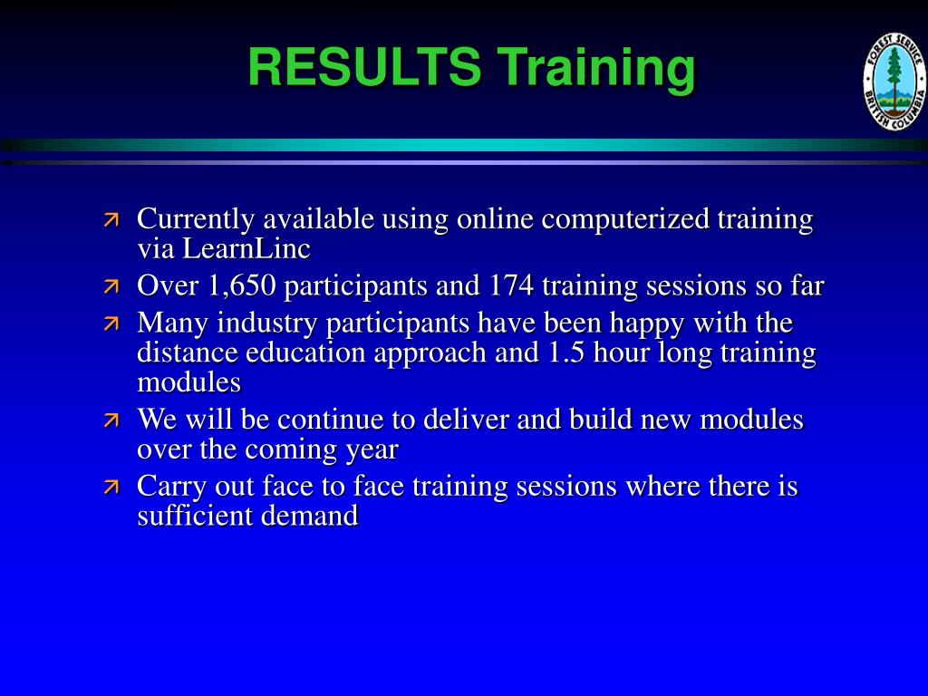 RESULTS Training