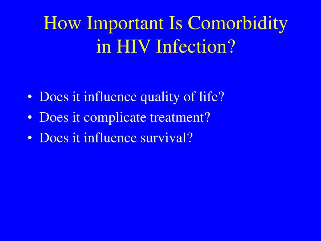 How Important Is Comorbidity