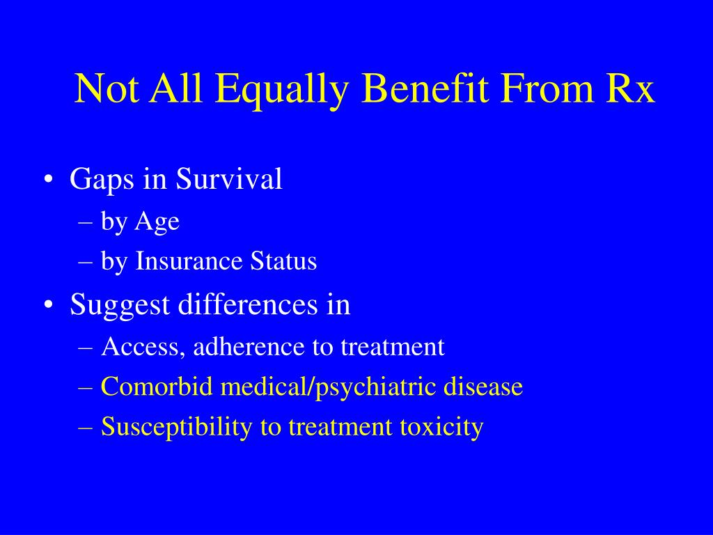 Not All Equally Benefit From Rx