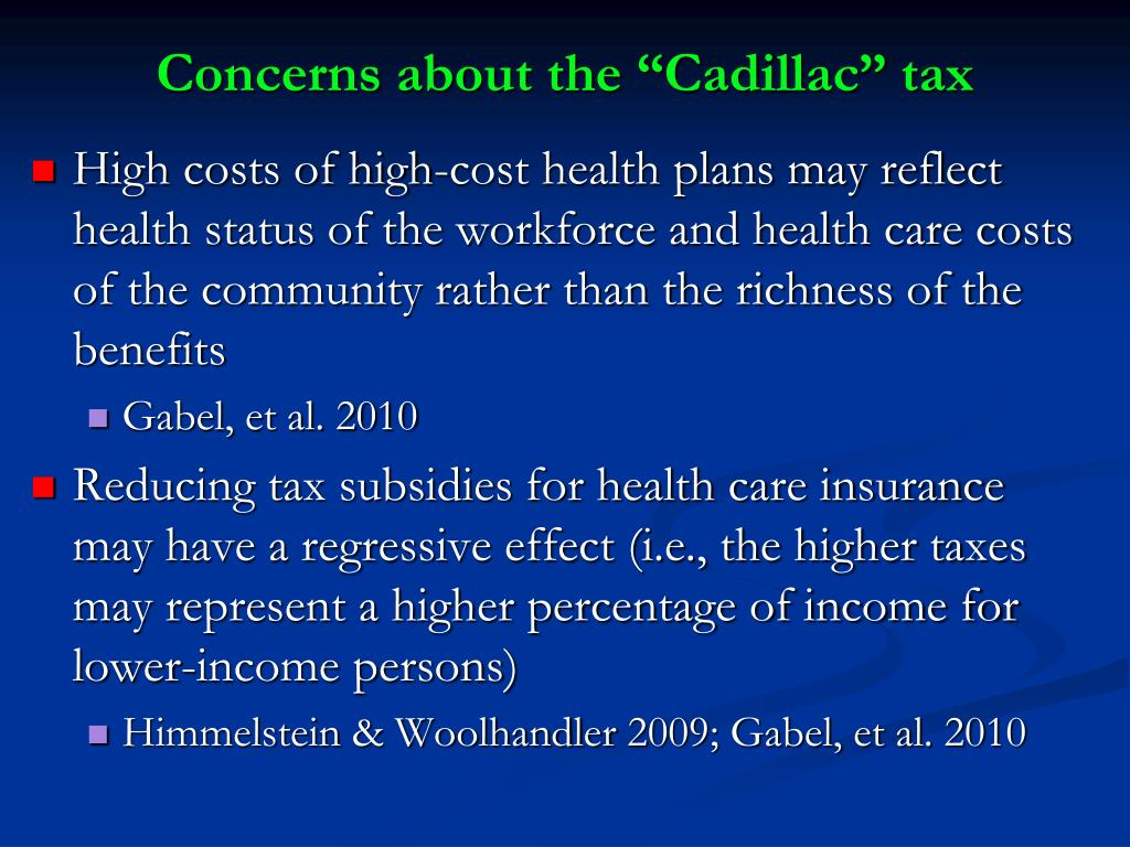 """Concerns about the """"Cadillac"""" tax"""