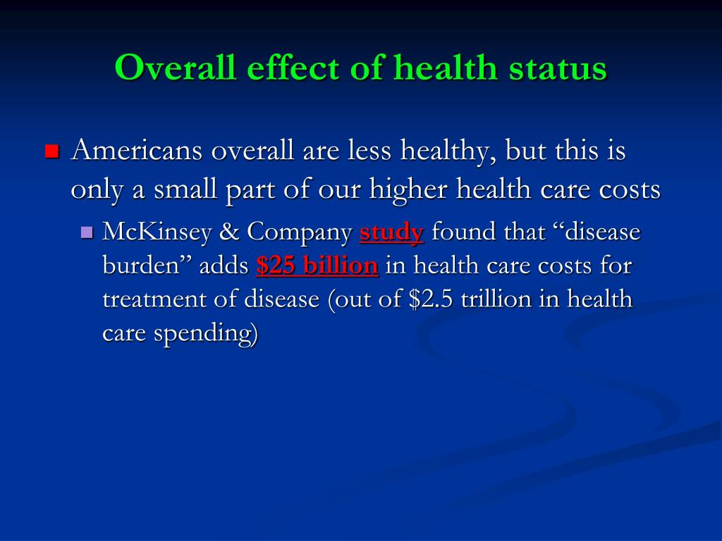 Overall effect of health status