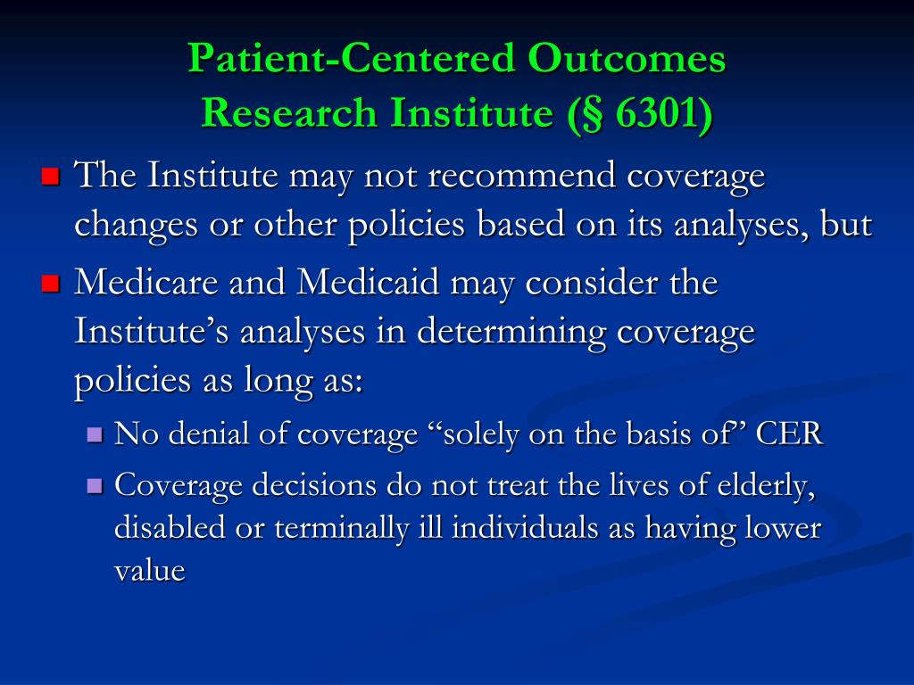 Patient-Centered Outcomes