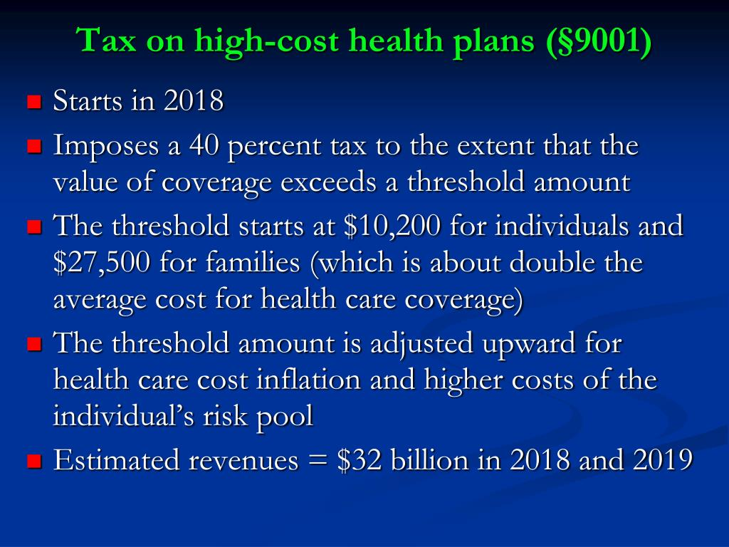 Tax on high-cost health plans (