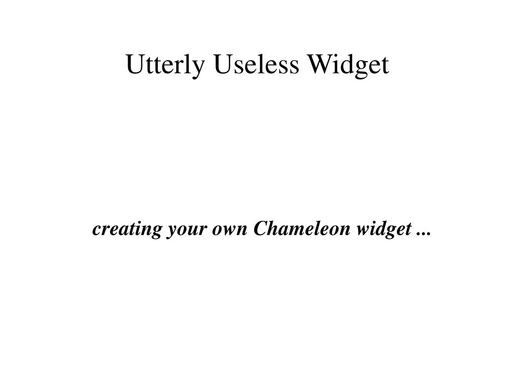 creating your own chameleon widget l.
