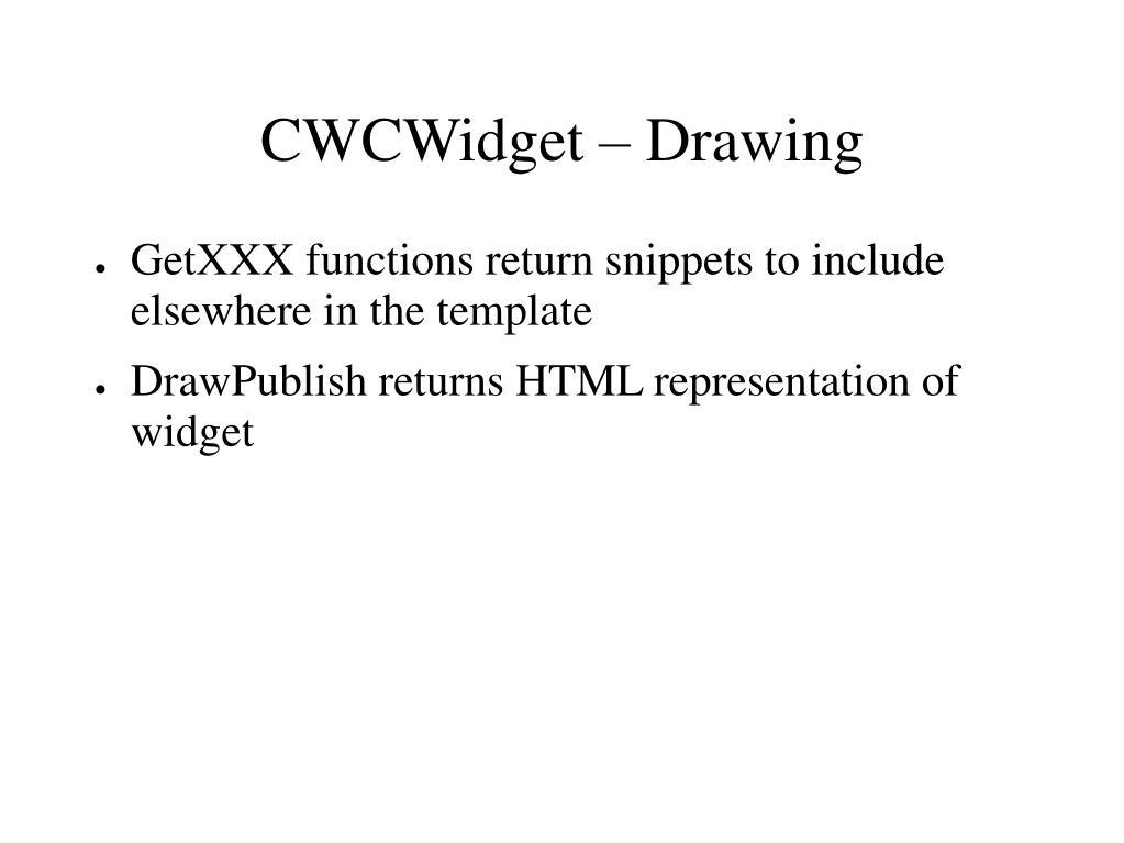 CWCWidget – Drawing