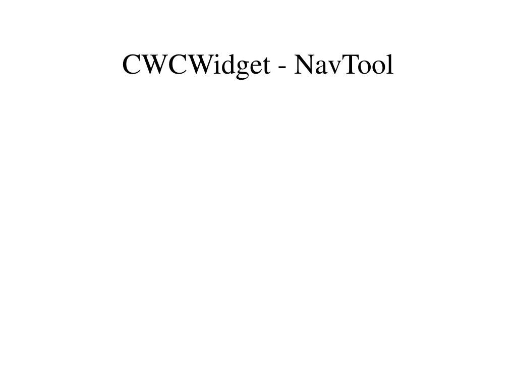 CWCWidget - NavTool