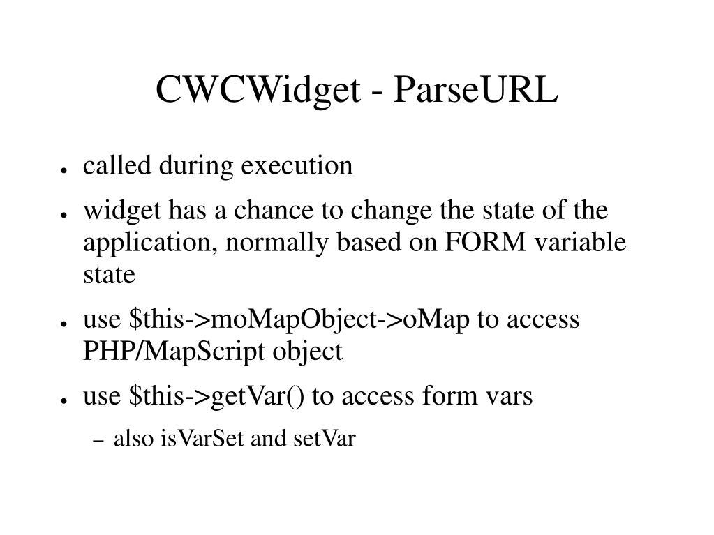 CWCWidget - ParseURL