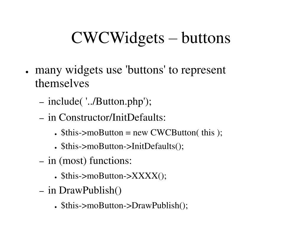 CWCWidgets – buttons