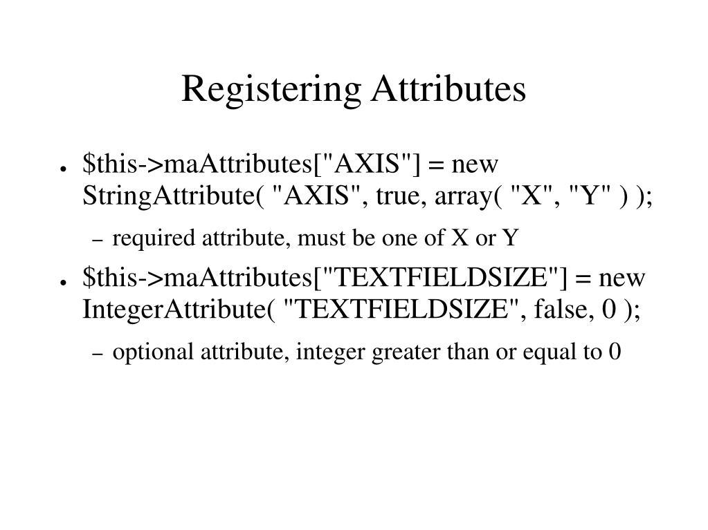 Registering Attributes