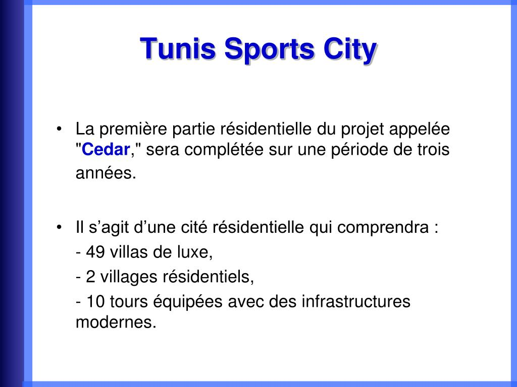 Tunis Sports City