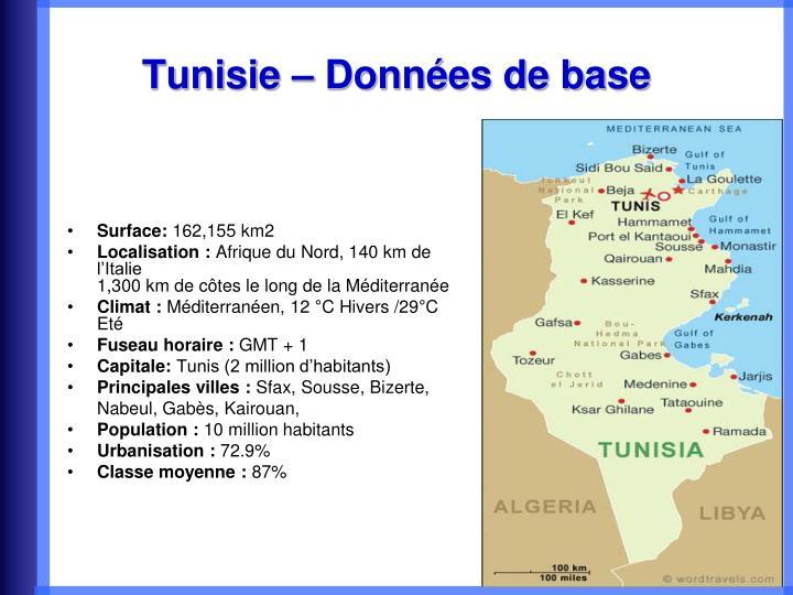 Tunisie donn es de base