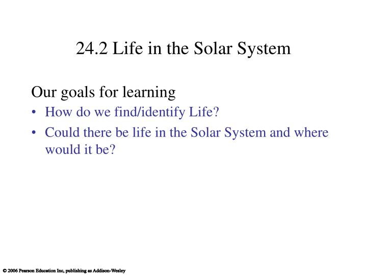 24 2 life in the solar system