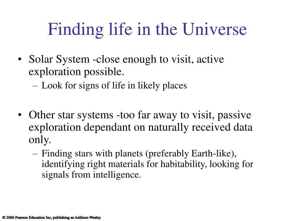 Finding life in the Universe