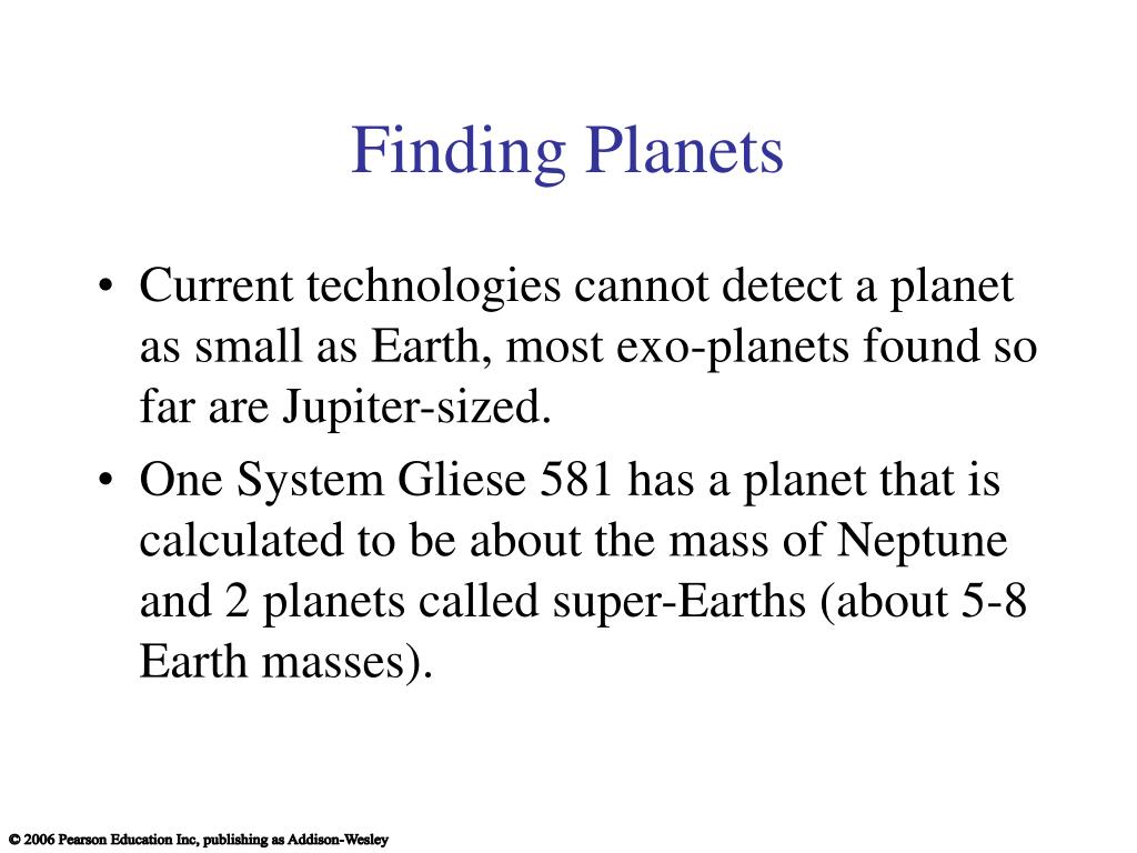 Finding Planets