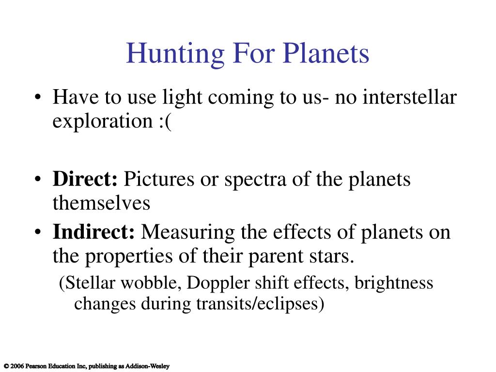 Hunting For Planets