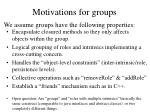 motivations for groups