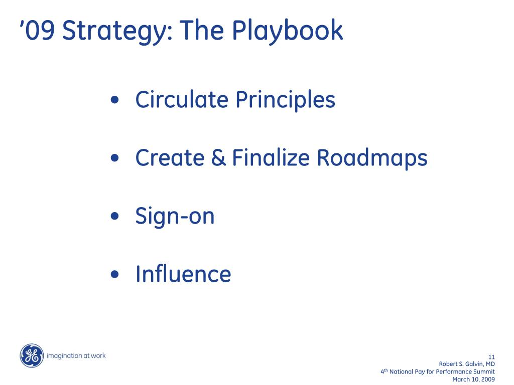 '09 Strategy: The Playbook